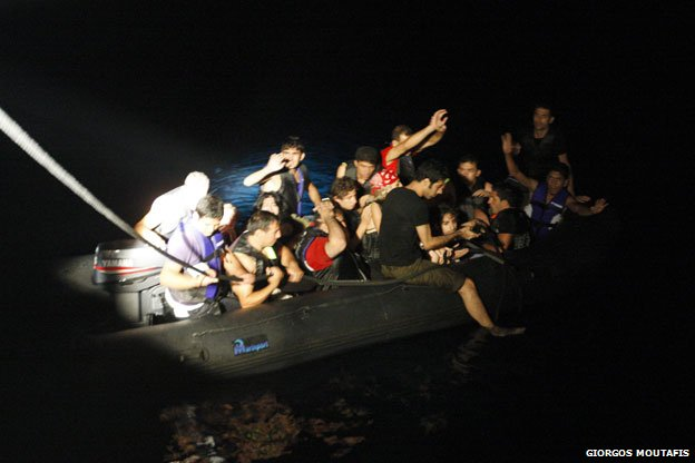 Raid on refugee boats