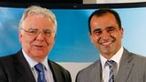 Everton chairman Bill Kenwright and manager Roberto Martinez