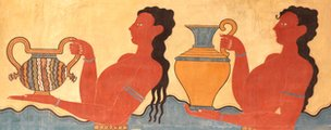 A fresco at the palace of Knossos