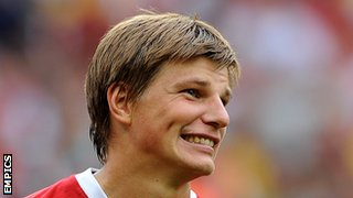 Andrei Arshavin while with Arsenal