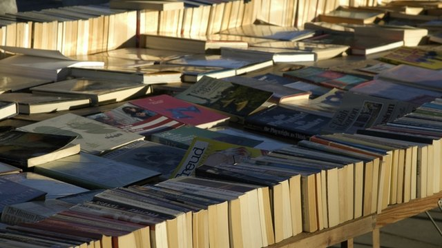 Second Hand book stall outside South Bank Centre London