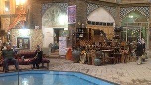 Tea shop in Kashan, Iran