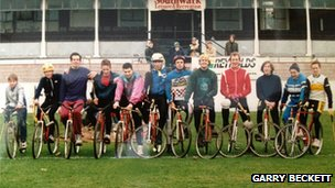 Bradley Wiggins as teenager at Herne Hill Velodrome