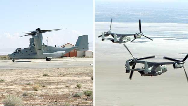 CV-22 Osprey tilt-rotor aircraft