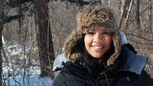 Operation Snow Tiger presenter Liz Bonnin in Siberia