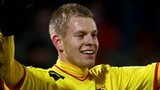 Matej Vydra and his Watford team-mates