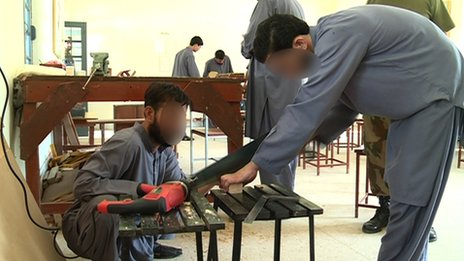 Many of the men at the centre get vocational training