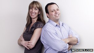 Michelle Crosby and Wevorce co-founder Jeff Reynolds