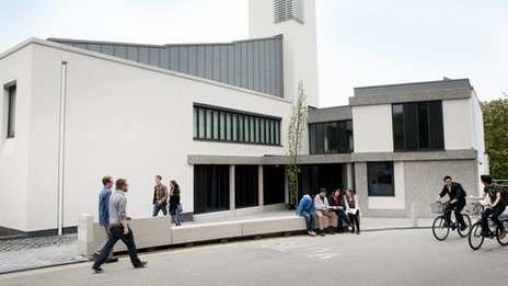 Wolfson college's new academic wing