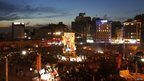 Anti-government protesters gather in Istanbul's Taksim square