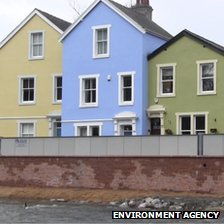 New flood barrier in Cockermouth