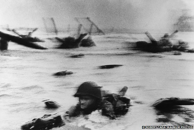 Landing of the American troops on Omaha Beach, Normandy, 6 June 1944