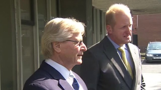 William Roache and his lawyer