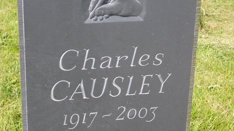 Charles Causley is buried in Launceston