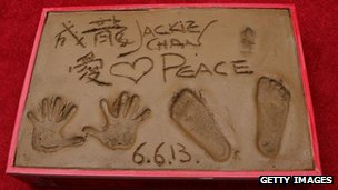 Jackie Chan's hand and footprints