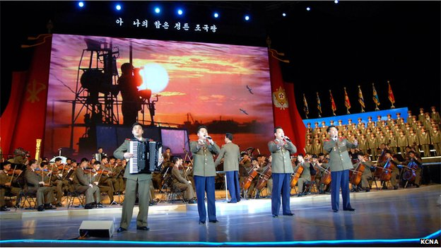 Song for the Final Victors performed in Pyongyang