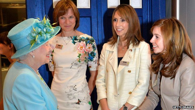 The Queen speaks to Fiona Bruce, Alex Jones and Stacey Dooley