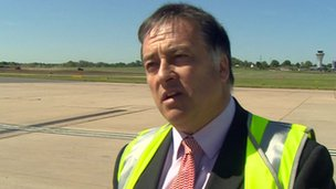 John Morris, public affairs director at Birmingham Airport