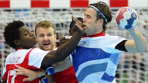 Great Britain handball player Steve Larsson