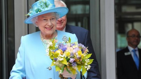 The Queen leaves Broadcasting House