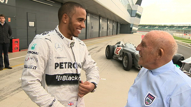 Lewis Hamilton and Stirling Moss