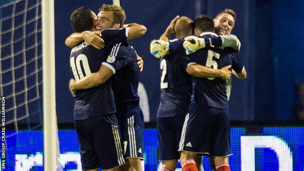 Scotland were 1-0 winners in Croatia