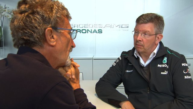 Eddie Jordan and Ross Brawn