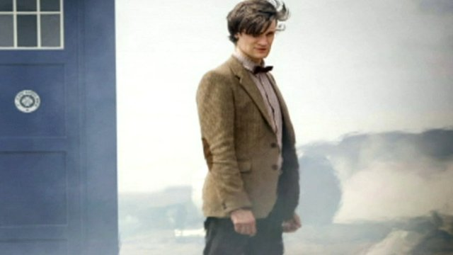 Dr Who in tweed jacket