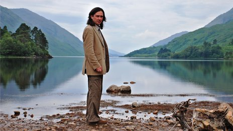 Presenter Neil Oliver in the Highlands