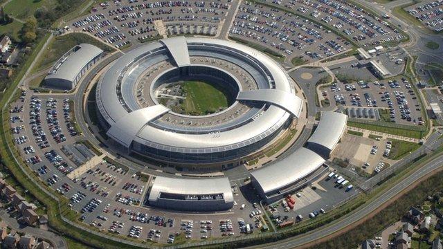 Aerial shot of GCHQ