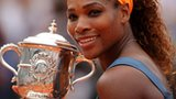 Serena Williams celebrates winning French Open