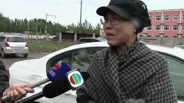 Liu Xia, sister of Liu Hui, denounced the verdict outside the court