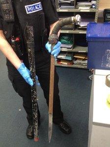 Sword disguised as walking stick