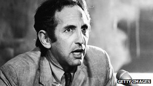 Daniel Ellsberg at a news conference in the 1970s