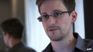 Screenshot of Eric Snowden on 6 June 2013