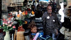 Shop-keeper in Tehran (May 2013)