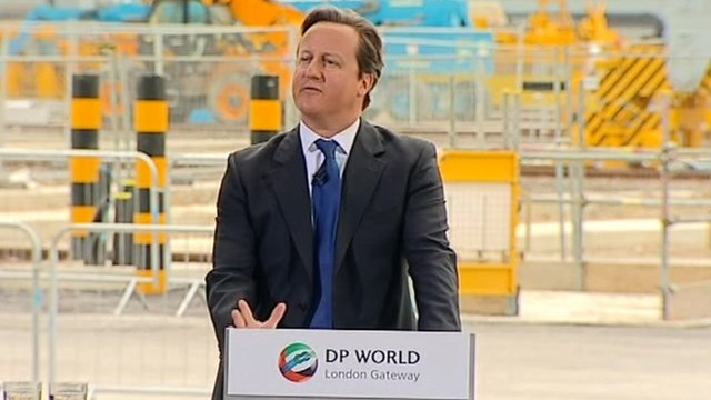 David Cameron at London Gateway