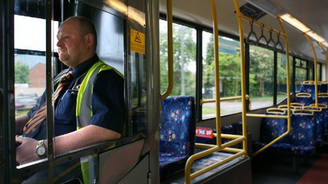Bus driver Krysztof Hemperek