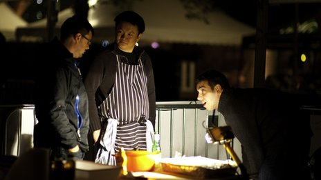 Competitors at Bristol Grillstock cook through the night