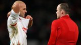 David Hunt swaps shirts with Wayne Rooney
