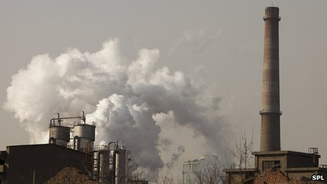 Steel works in Hangdang, China