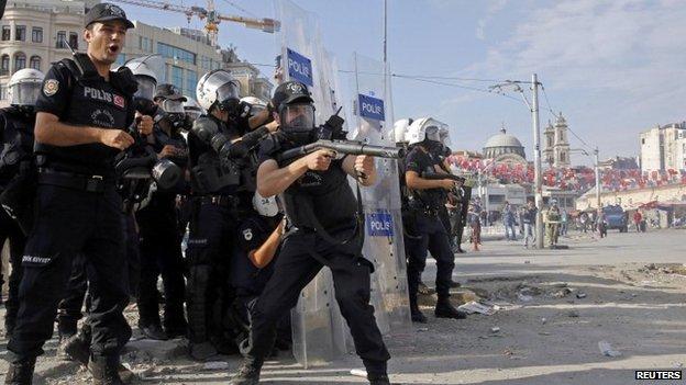 Police in Taksim Square 11/6/13