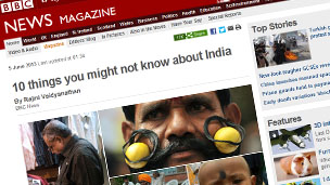 India feature in BBC News Magazine