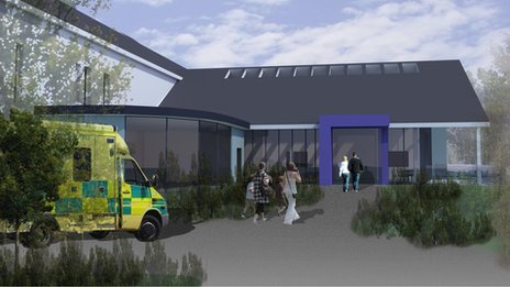 Artist impression of Llangollen health centre