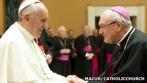 Pope Francis with the Right Reverend Alan Hopes