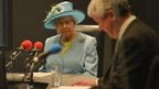 The Queen and Tony Hall in the Today studio