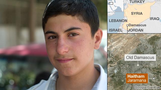 Haitham, a Syrian student
