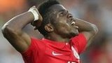 England's Wilfried Zaha reacts during the Israel match