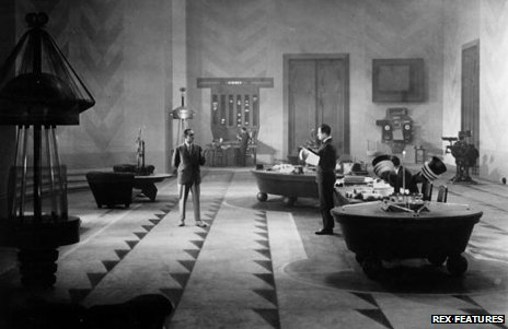 Office scene from Fritz Lang's futuristic film Metropolis, made in 1927
