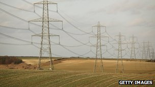 Electricity pylons in Cambridgeshire